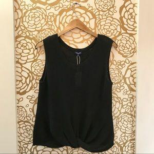 Splendid Black Knot Bottom Sleeveless Tank Sweater